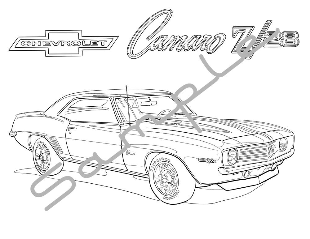 Chevy Camaro Drawing At Getdrawings Com
