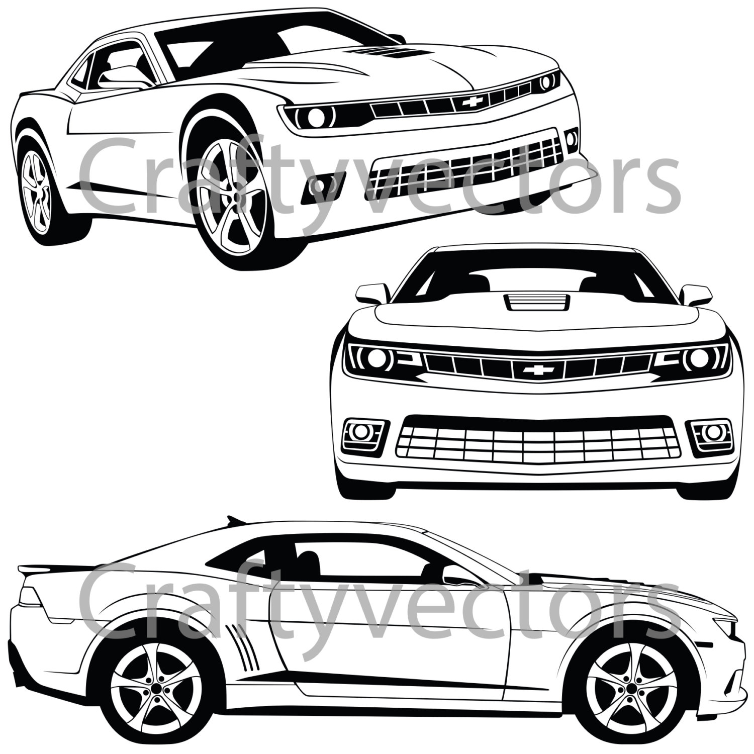 1500x1500 Chevrolet Camaro 2015 Vector File