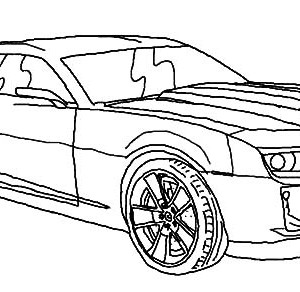 300x292 Chevrolet Camaro Bumblebee Car Coloring Pages Best Place To Color