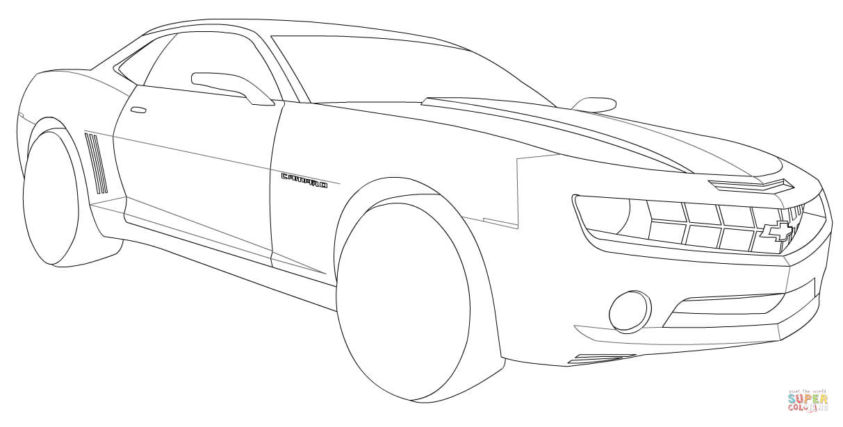Chevrolet Camaro Drawing at GetDrawings