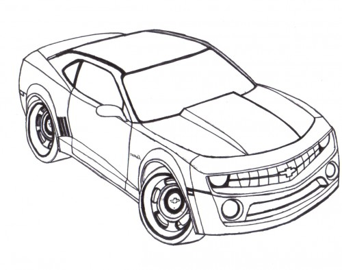 500x394 Racing Car Chevy Camaro Coloring Page Coloring Pageslineart