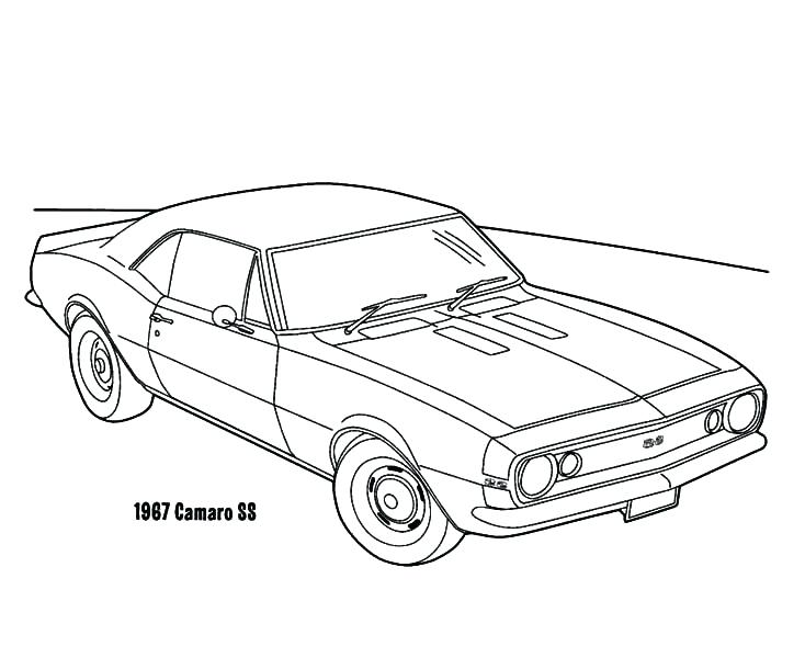 734x600 Camaro Coloring Pages