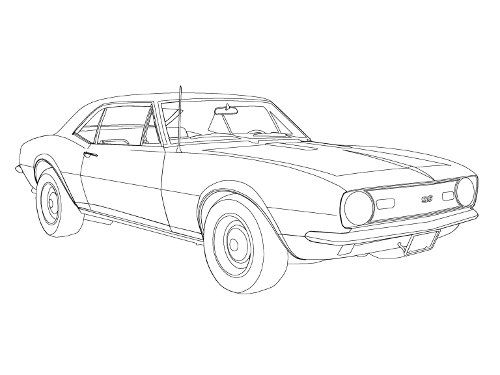 500x375 How To Draw A Race Car How To Draw A Camaro, Step By Step, Cars