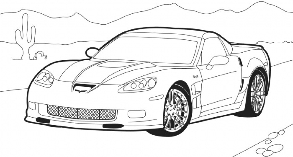 Chevrolet Corvette Drawing At Getdrawings Com