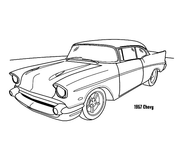 Chevy c10 drawing at free for personal for Chevy nova coloring pages