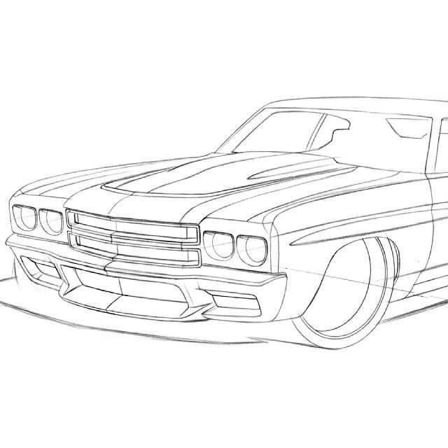 Chevy Camaro Drawing