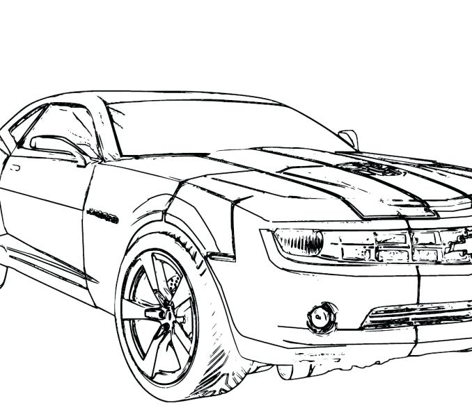 678x600 Camaro Coloring Pages Printable Chevy Camaro Coloring Pages