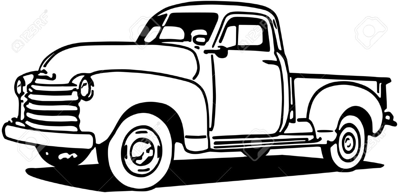 1300x631 Chevy Pickup Truck Royalty Free Cliparts, Vectors, And Stock