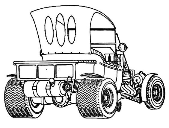564x428 1956 Ford Mixed Media Vehicle Line Drawings Mixed