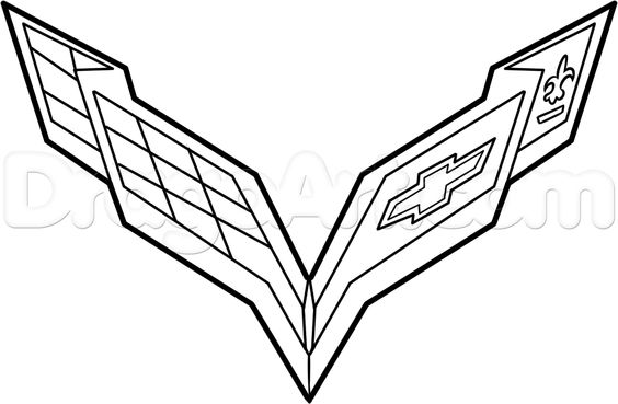 564x369 How To Draw The Corvette Logo Step 6 Corvette