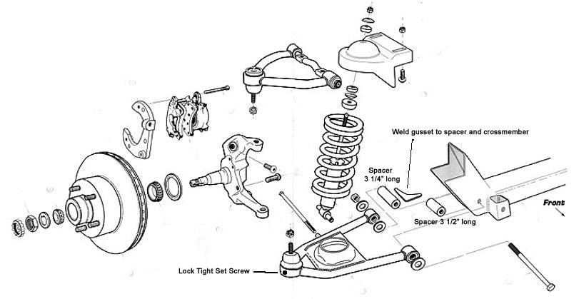 1990 Chevy Truck Front Suspension Diagram
