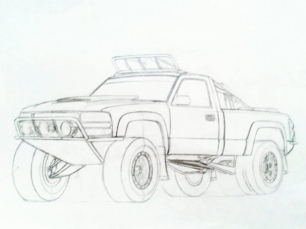 Chevy Silverado Drawing at GetDrawings | Free download