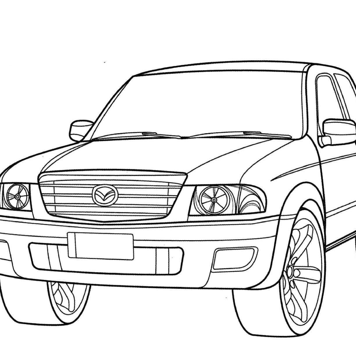1224x1224 Dodge Truck Coloring Pages Pick Up And Car For Adults Free