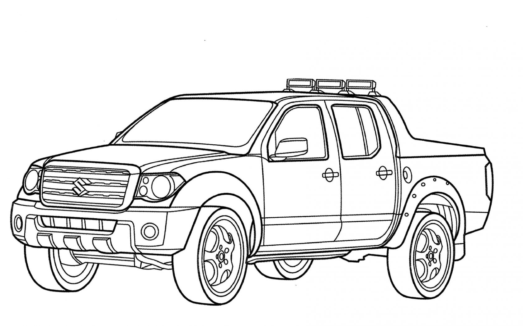 1680x1050 T Is For Truck Coloring Pages Pick Up And Car Adults Free