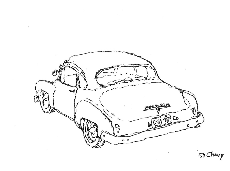 800x595 Urban Sketchers Seattle 1950 Chevy Coupe