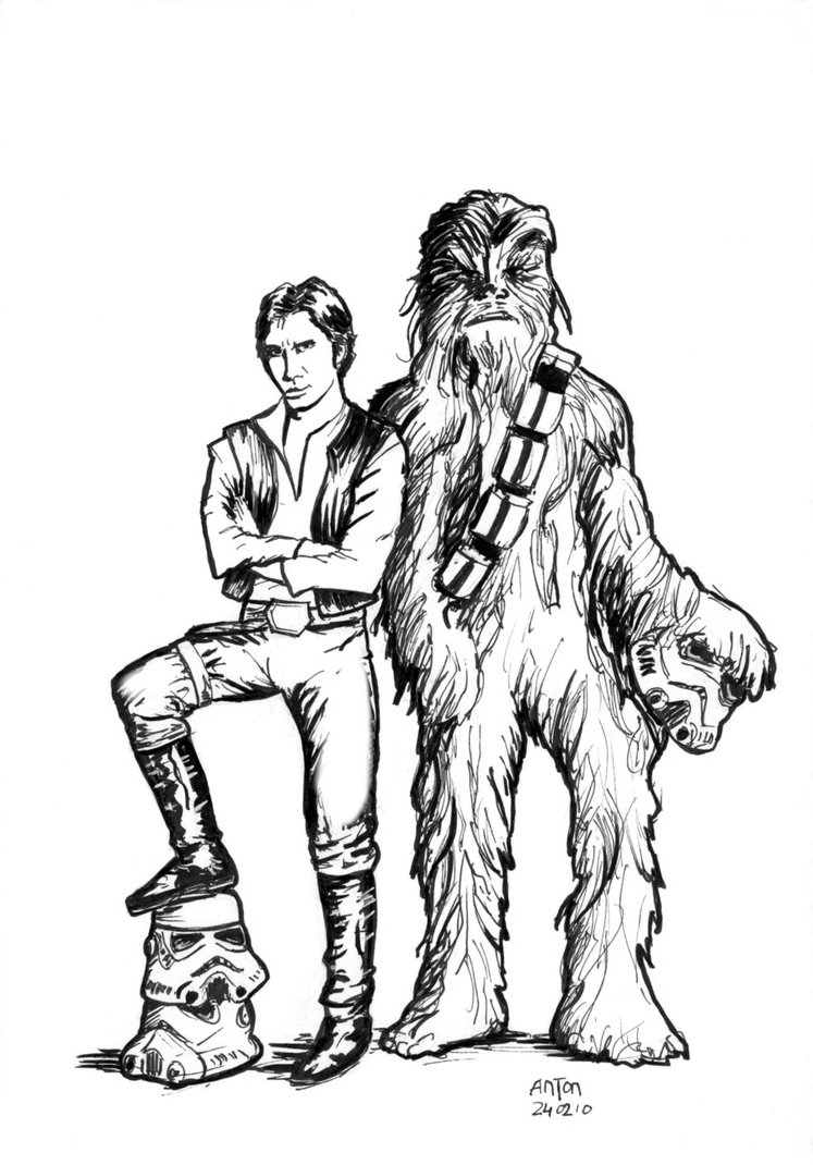 Chewbacca Drawing At Getdrawings Com Free For Personal Use