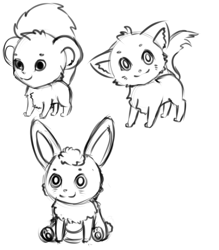 Chibi Animals Drawing