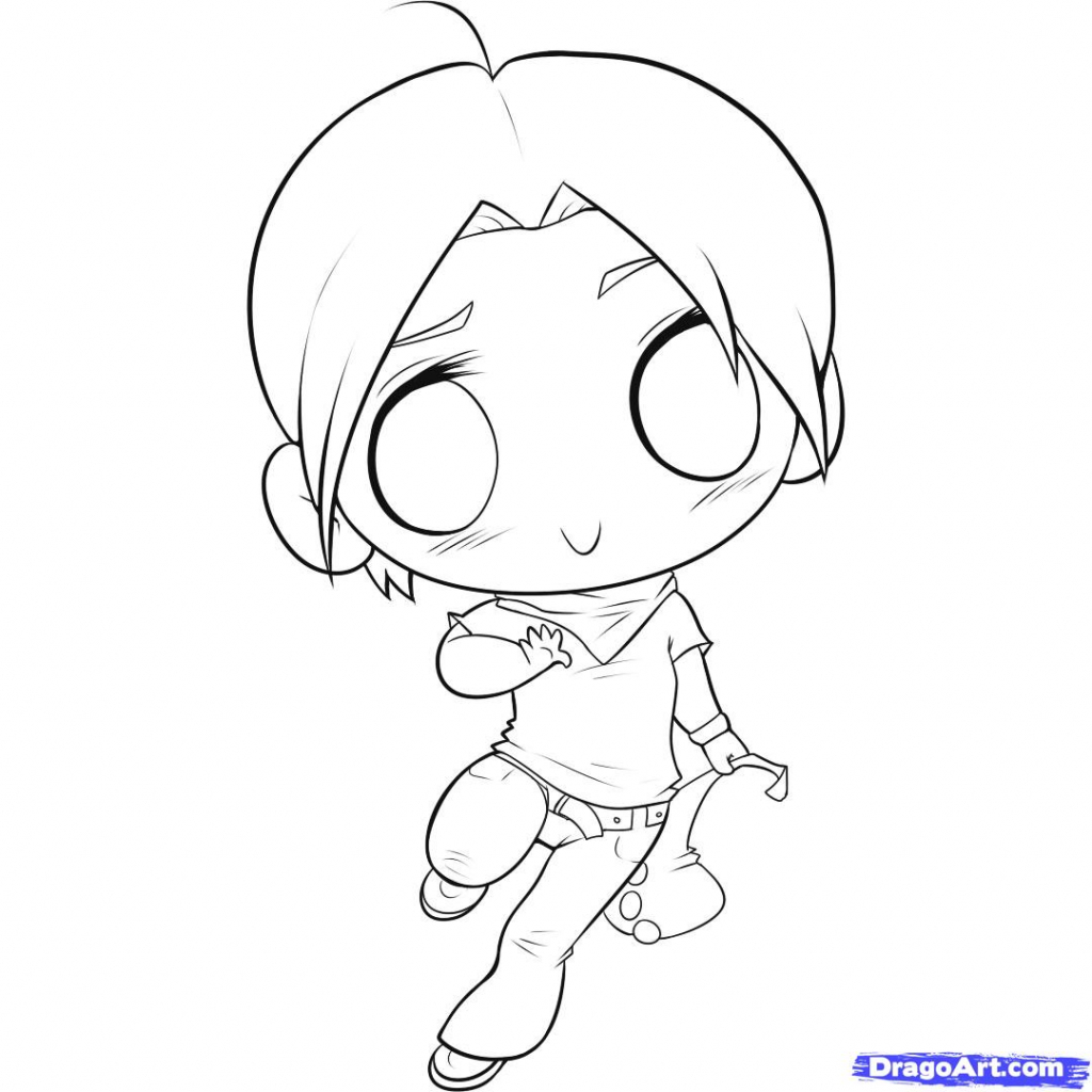 1024x1024 Chibi Anime Drawing Anime Chibi Sketch Drawing A Chibi, Stepstep