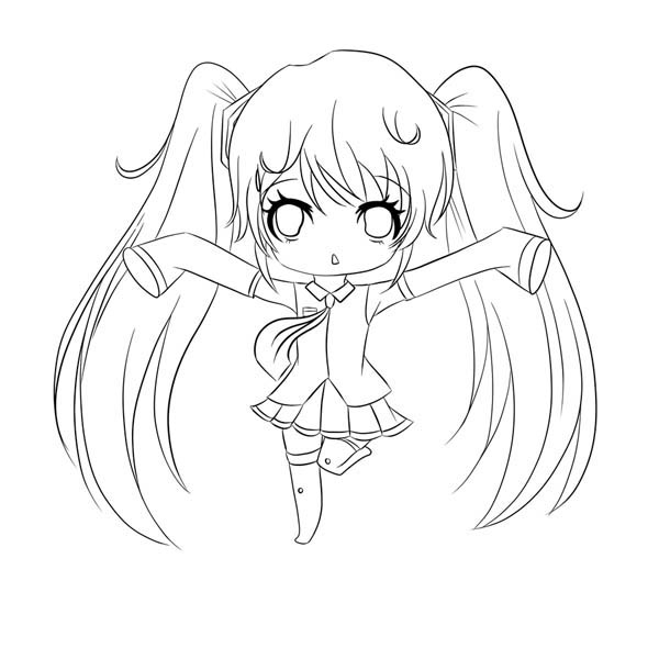 600x600 amazing chibi drawing coloring page