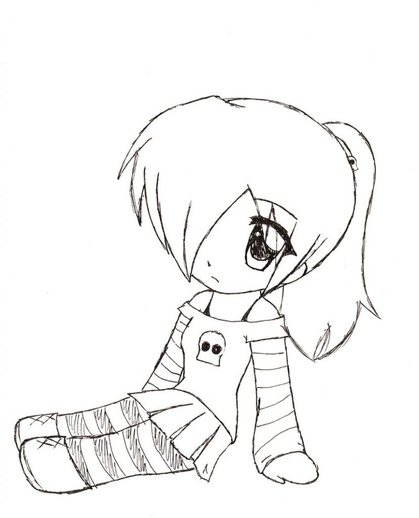 829x1024 Anime Chibi Drawing Anime Chibi Drawing Cute Chibi Girl Easy