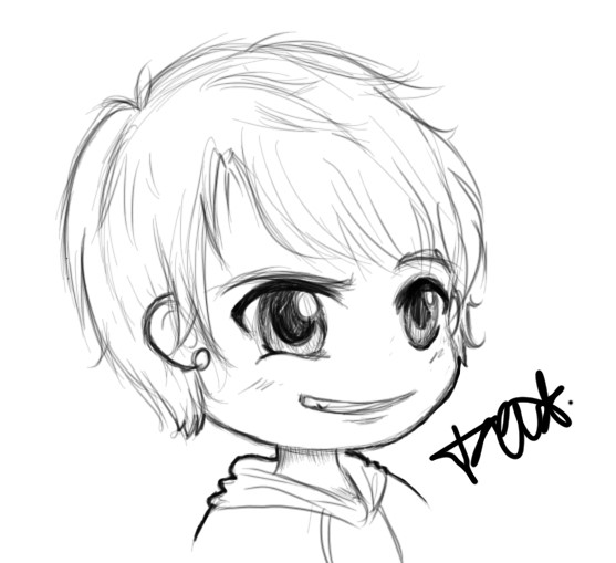 Chibi Boy Drawing