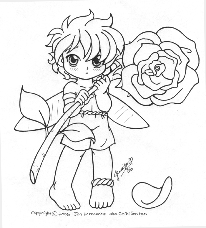 anime chibi boy coloring pages - photo#12