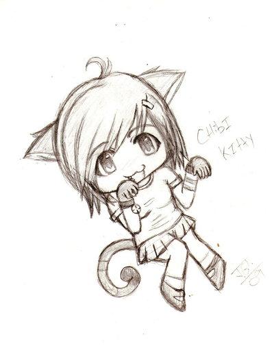 Chibi Cat Drawing At Getdrawings Com Free For Personal