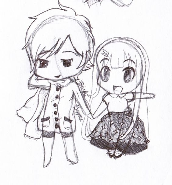 564x608 Chibi Couple By Miraclepemberton By Miraclepemberton