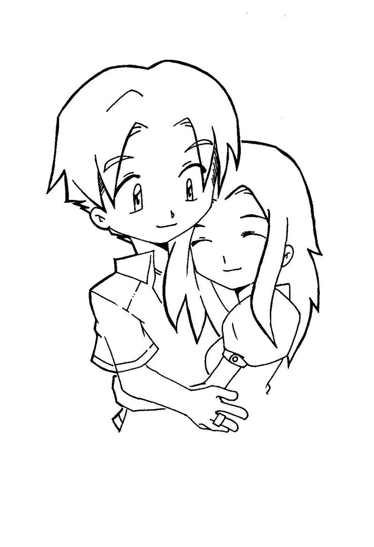739x1081 Chibi Couple By Ed Sama