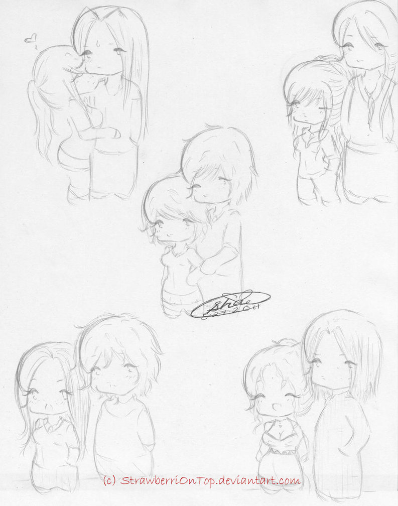 793x1008 Chibi Couples By Strawberriontop