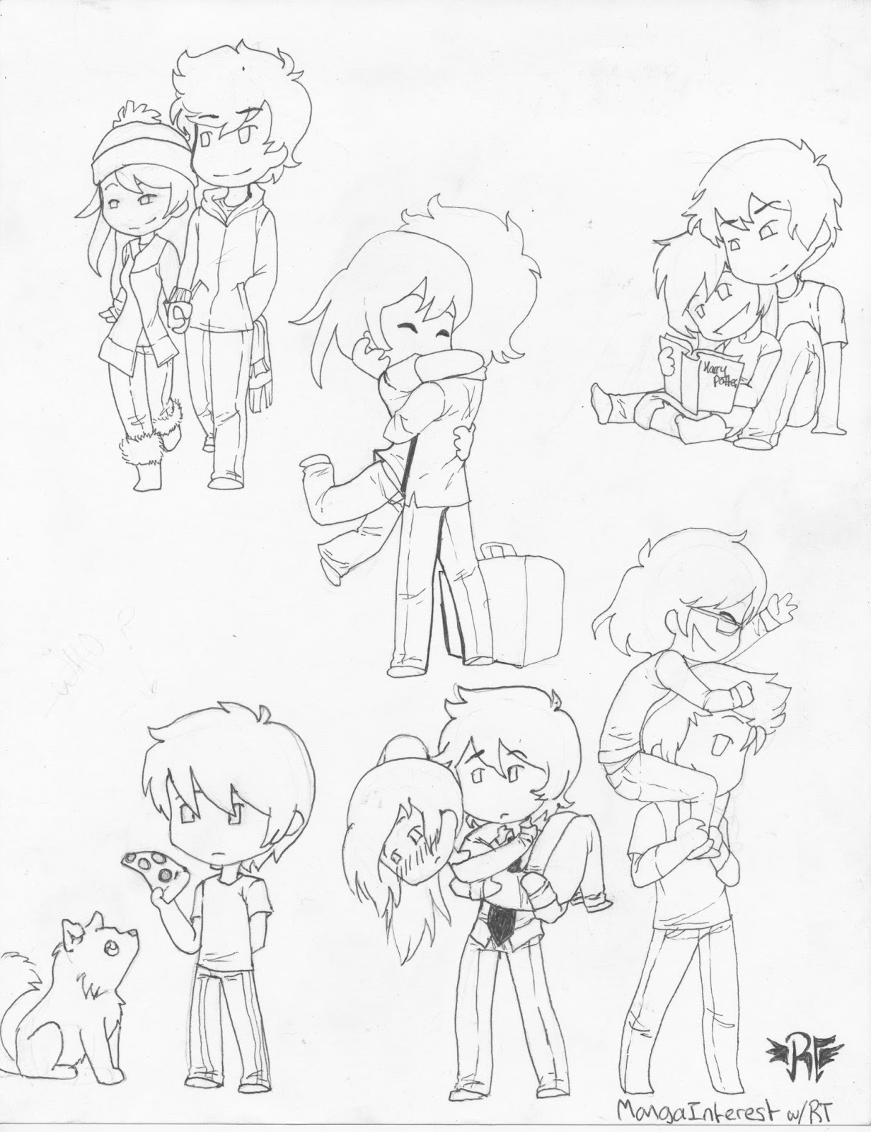 1231x1600 Chibi Poses! They Make Easy Blog Posts! Lol. Chibis Are Easy