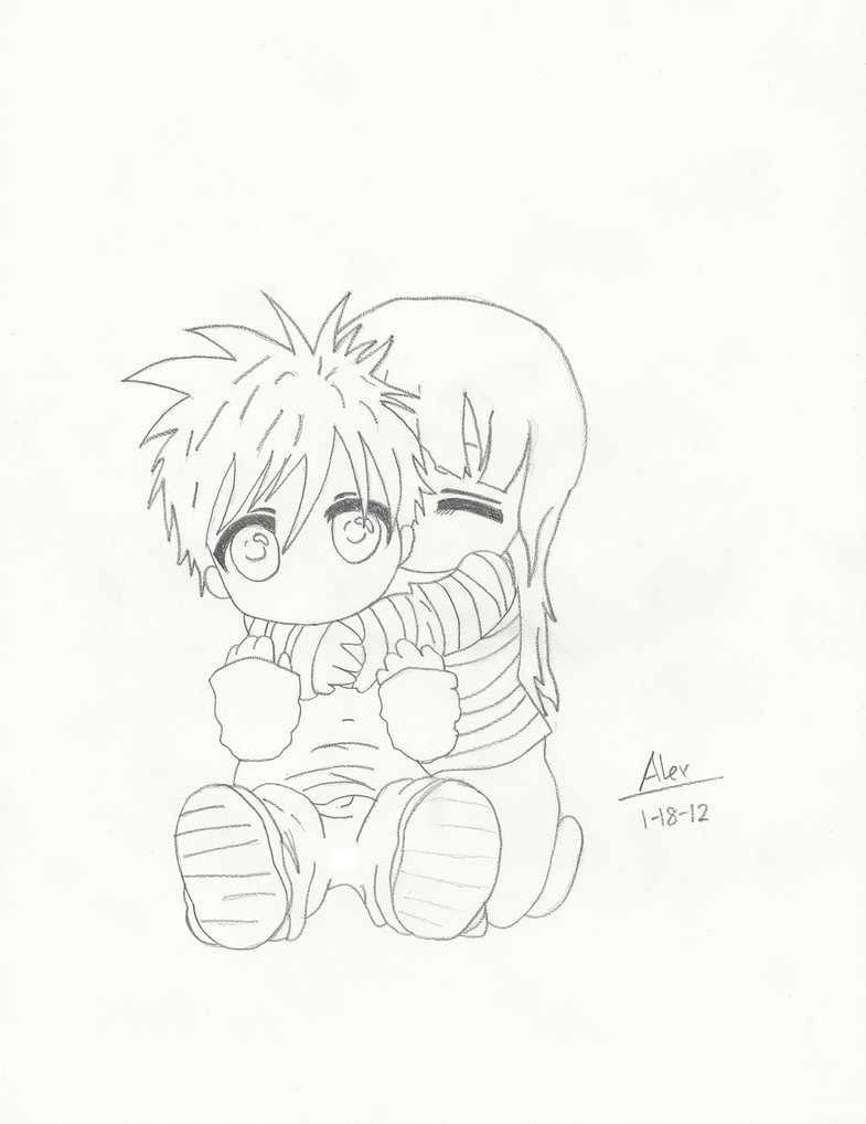 785x1018 Emo Chibi Couple By Zchaoskid