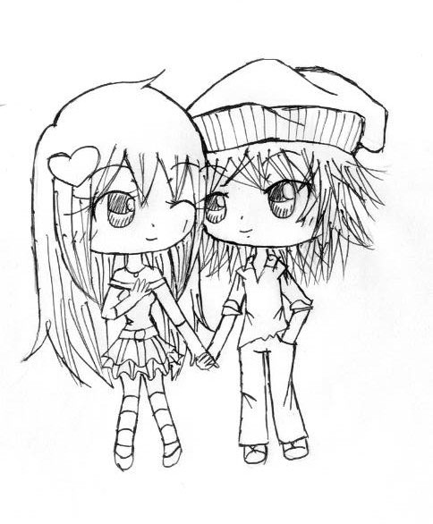 484x586 Chibi Couple By Nhiachan