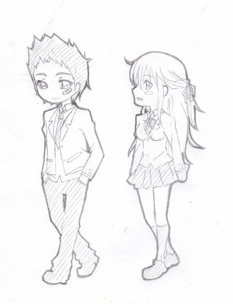 783x1021 Chibi Couple By Aumen