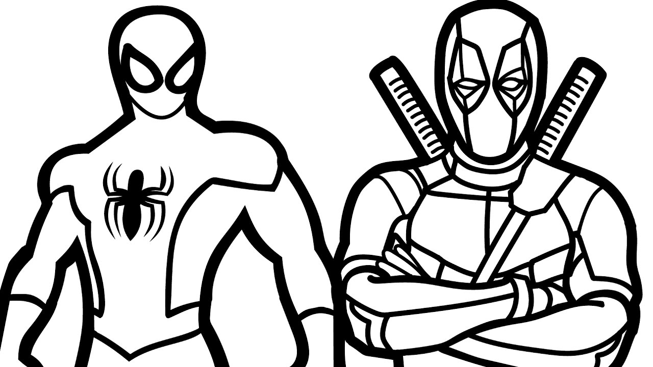 1280x720 Little Chibi Deadpool Coloring Page Wecoloringpage For Pages