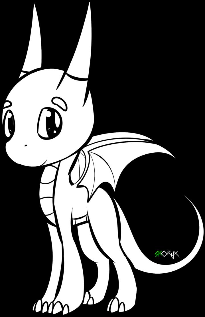 Chibi Dragon Drawing