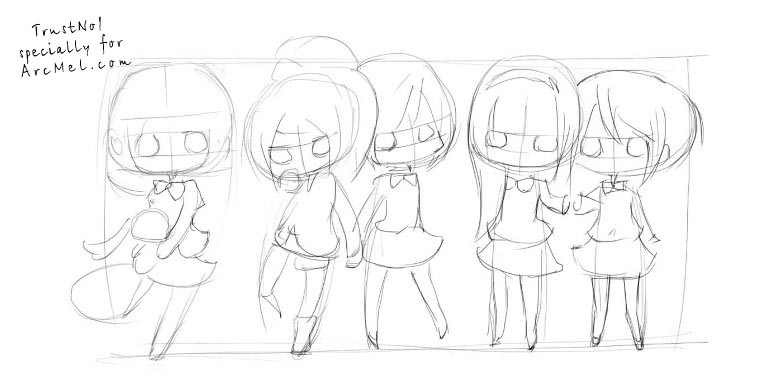 768x391 how to draw chibi step by step arcmel com