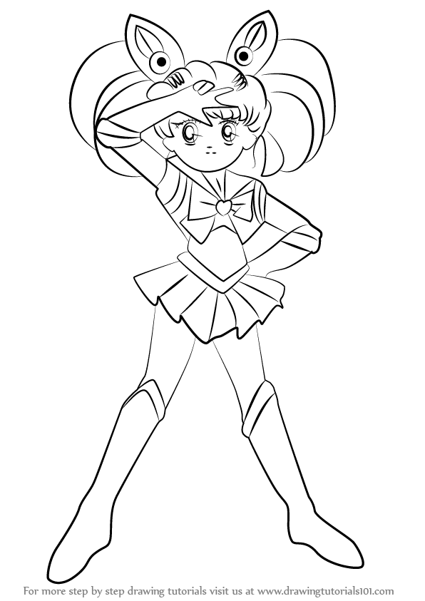 596x843 Learn How To Draw Sailor Chibi Moon From Sailor Moon (Sailor Moon