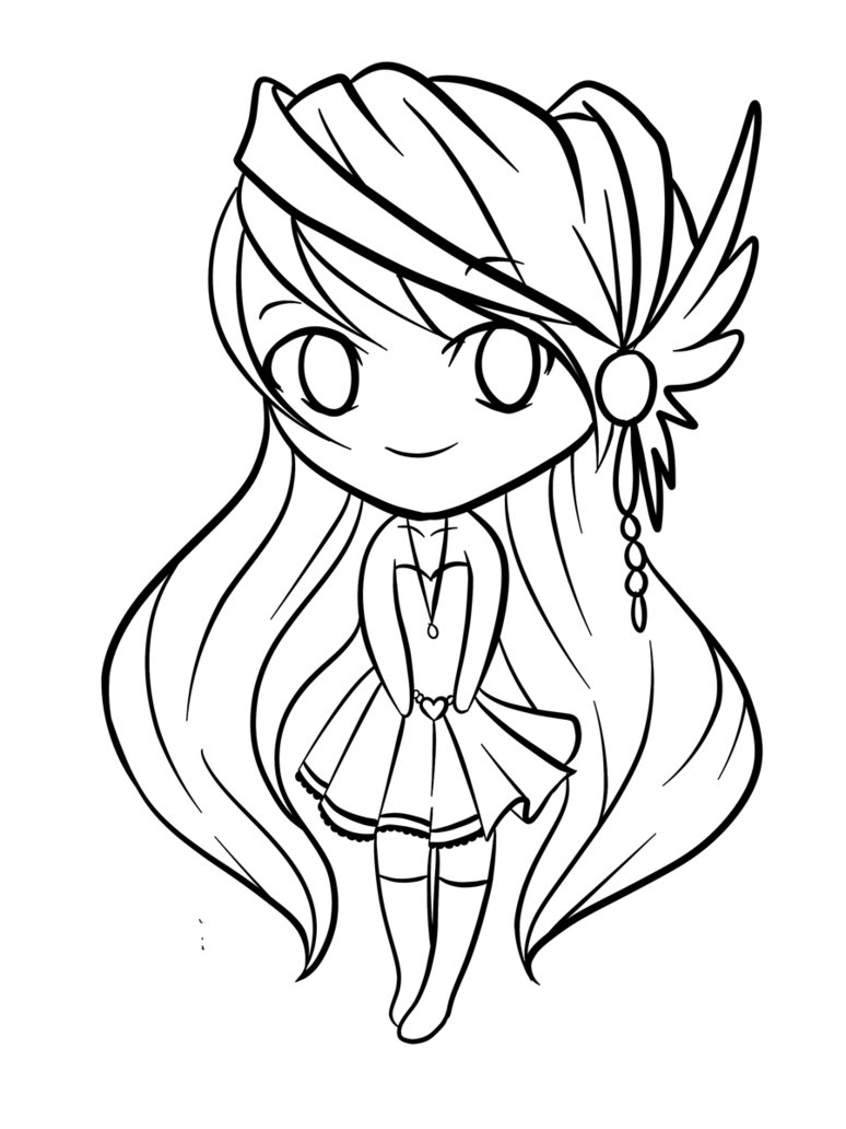 774x1032 Chibi Animal Coloring Pages Printable To Snazzy Draw Pict