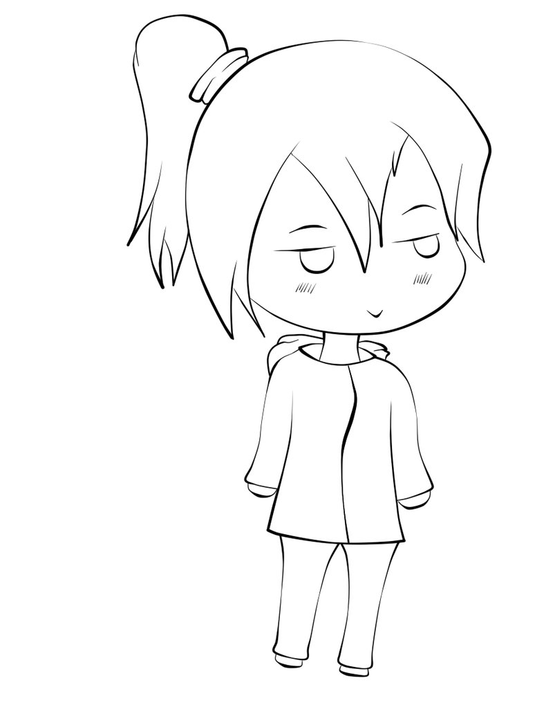 774x1032 Chibi Lineart By Xvxsimple Angelxvx