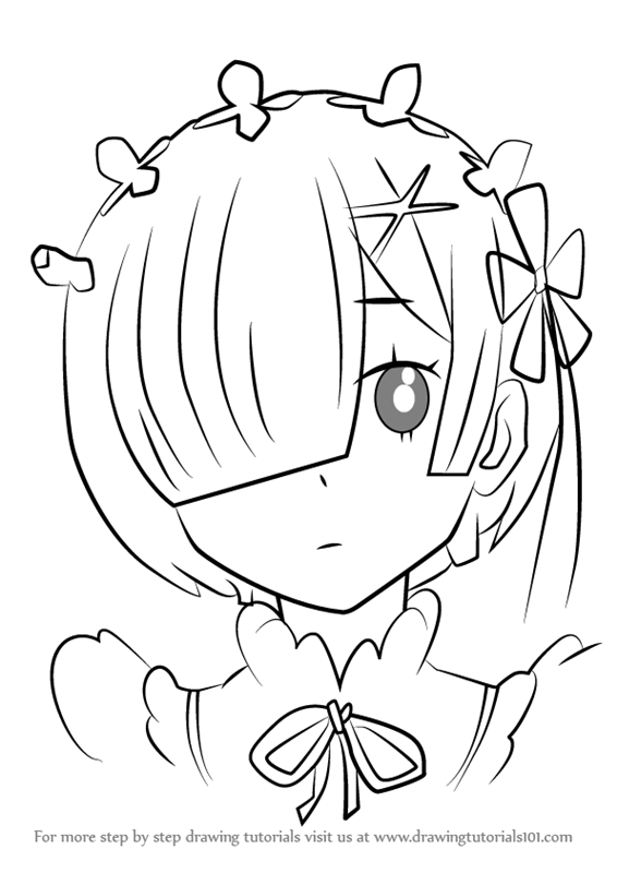 566x800 Learn How To Draw Rem From Re Zero (Rezero) Step By Step