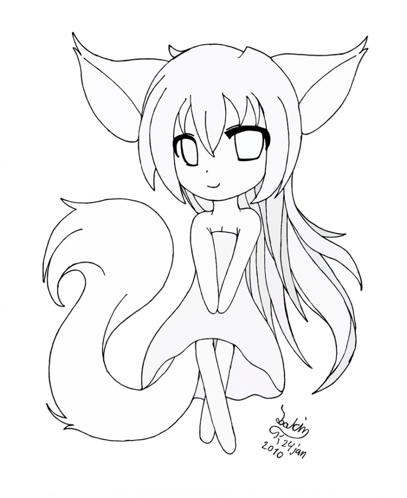 837x1024 Anime Chibi Drawing Cute Chibi Girl Easy Drawings Coloring Pages