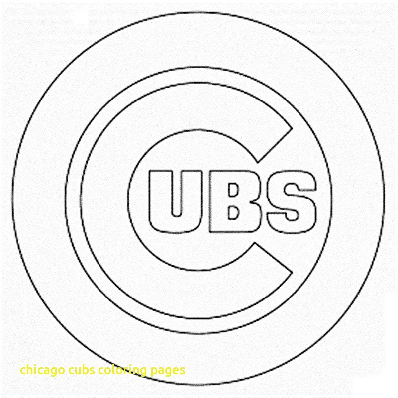 800x800 Chicago Cubs Coloring Pages With Chicago Bears Logo Pumpkin Sheets
