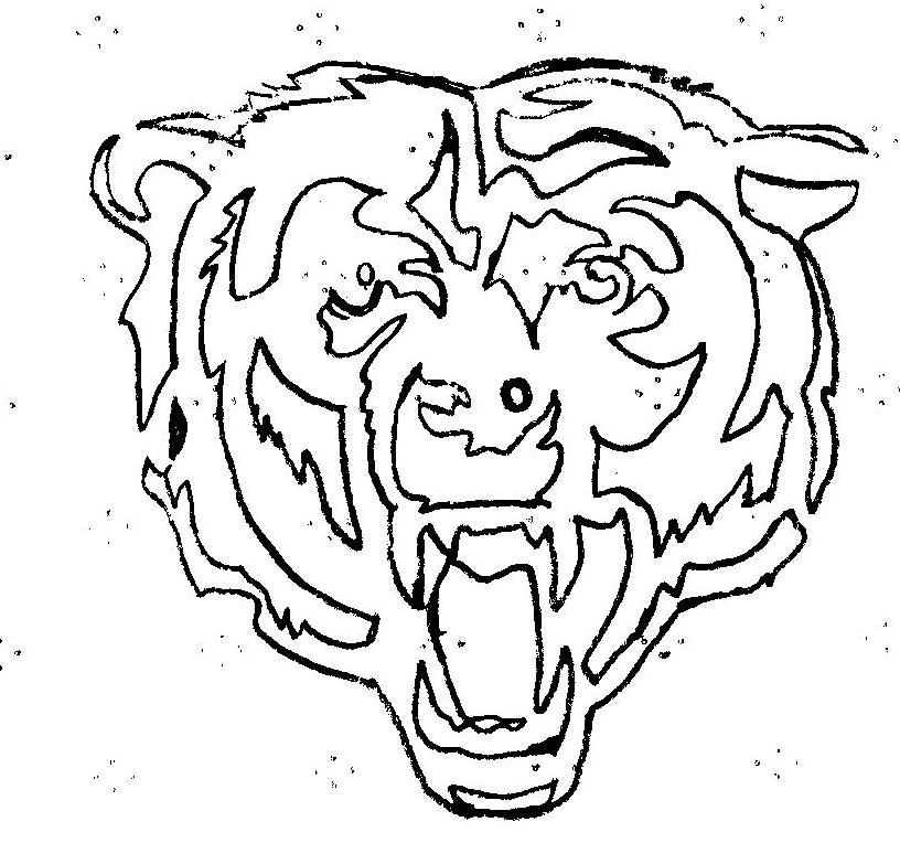 816x764 Wonderful Chicago Bears Coloring Pages 99 For Your Picture