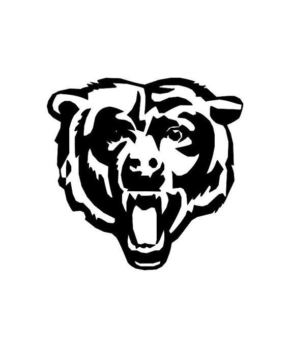 570x684 Chicago Bears Head Decal! Silhouette Sports Stuff