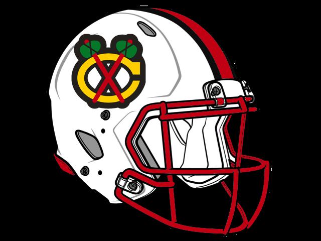 640x480 Chicago Blackhawks Football Helmet