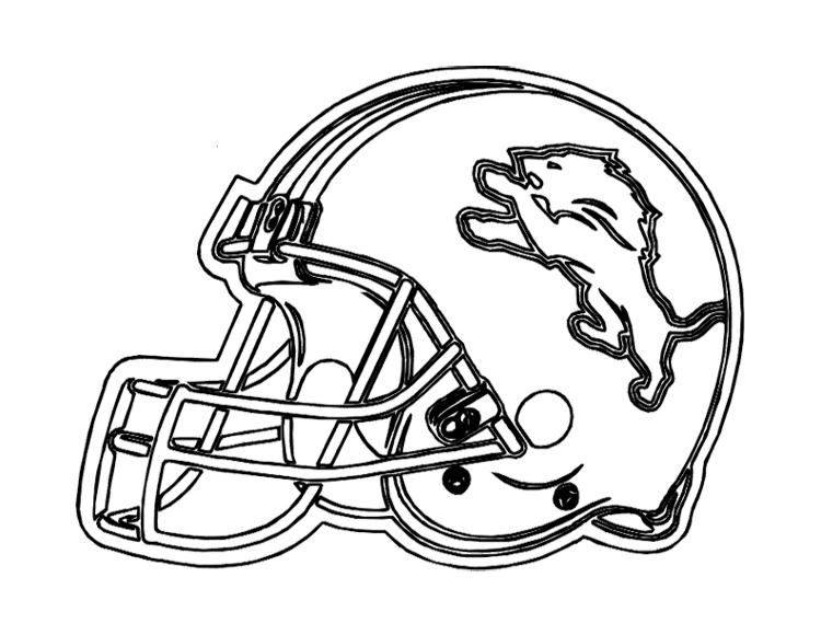 750x580 Football Helmet Detroit Lions Coloring Page For Kids Kids