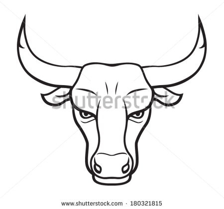 450x420 Bulls Clipart Drawn