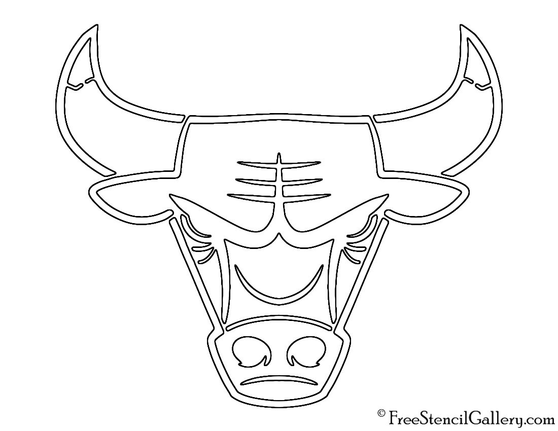 1100x850 Chicago Bulls Logo Drawing Nba Chicago Bulls Logo Stencil Free