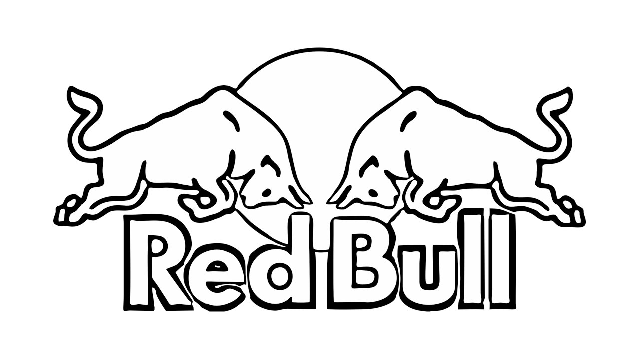 1280x720 Red Bull Logo Drawing